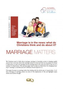 Marriage matters Resource paper cover